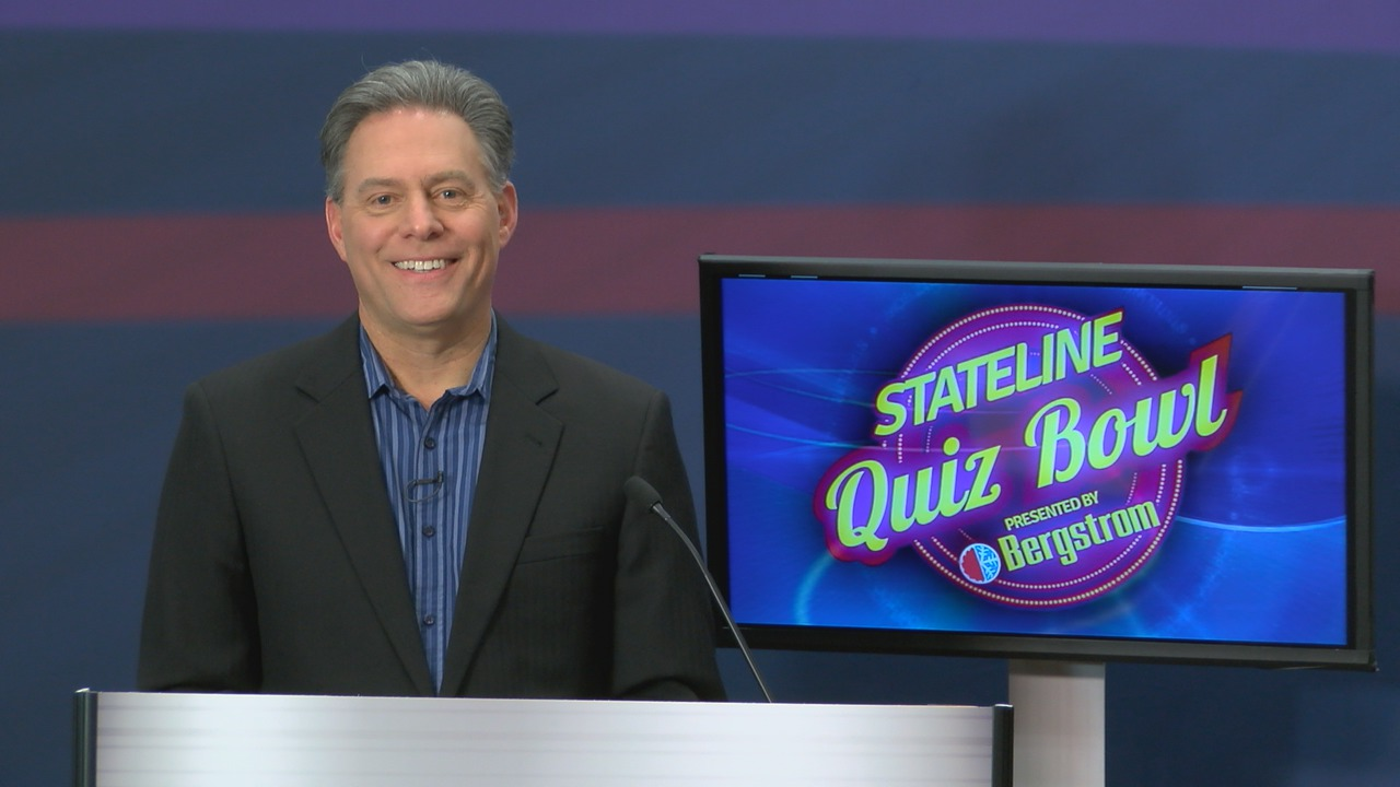 WTVO anchor Nick Toma hosts the quiz show