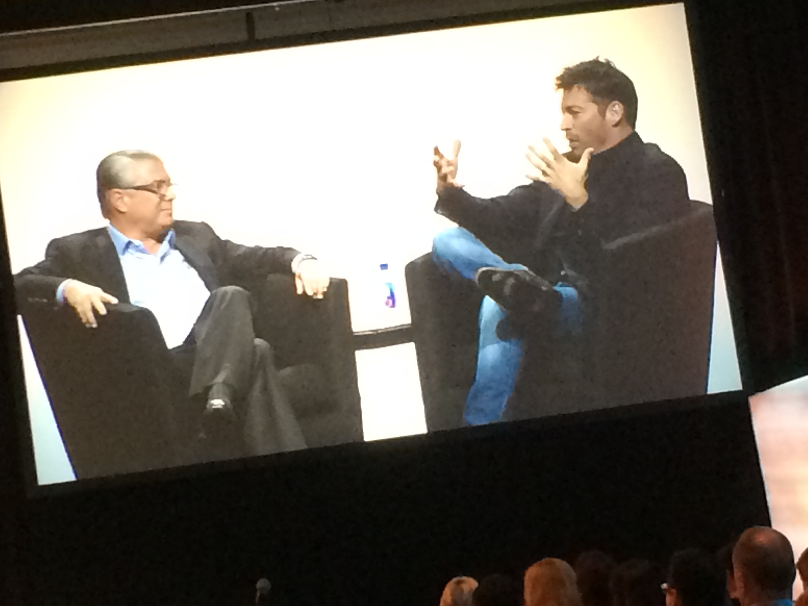 Ted Harbert and Harry Connick, Jr.