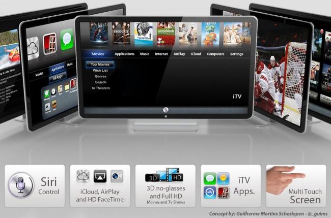 Concept of Apple iTV by Guilherme Martins Schasiepen.